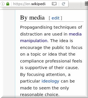 Distraction by media