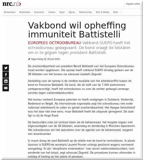 NRC on Battistelli's EPO