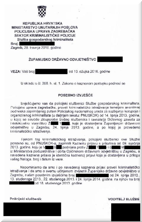 Croatia police reports