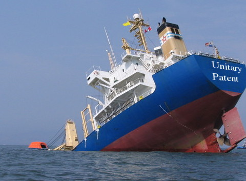 A shipwreck of UPC