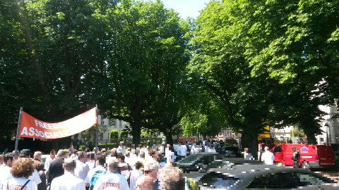 EPO protest in The Hague