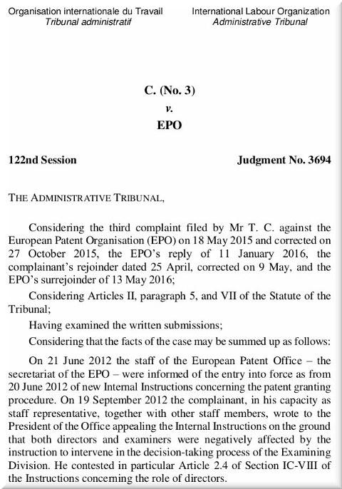 ILO case of Appeals Committee