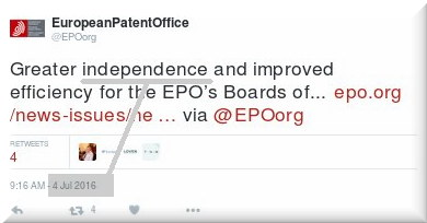 The independence farce at EPO
