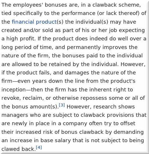 A clawback
