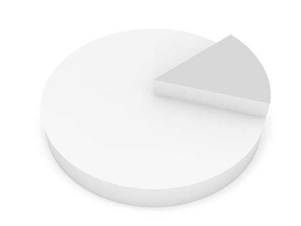White pie chart