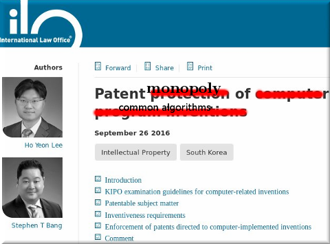 Korea software patents