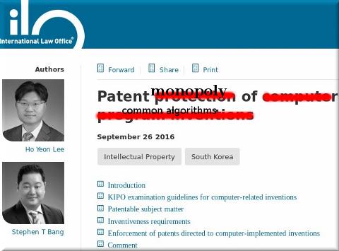 Korea software patents