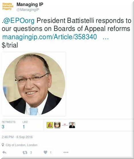 Managing IP and Battistelli