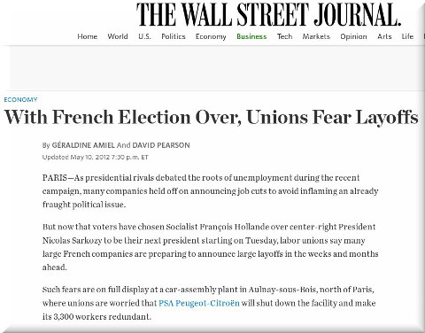 French unions