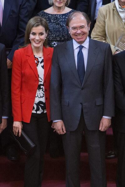 Queen Letizia and Garcia-Escudero