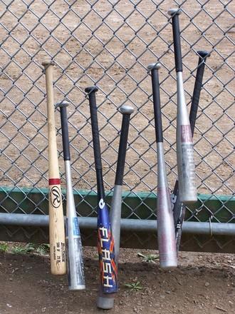 Some baseball bats