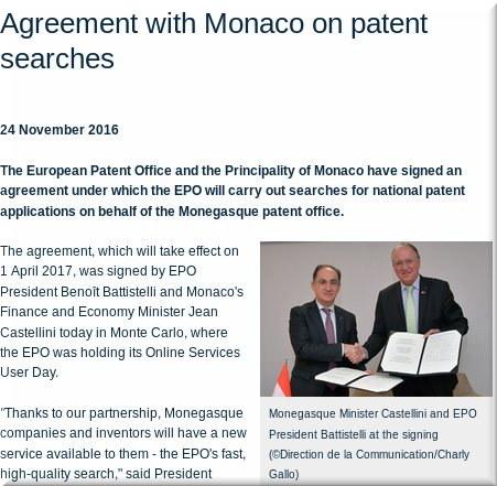 Monaco and EPO