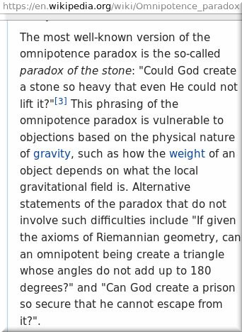 Omnipotence paradox