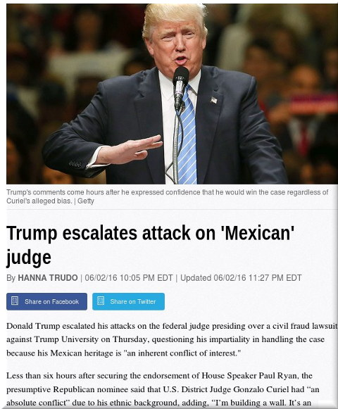 Trump attacking judges