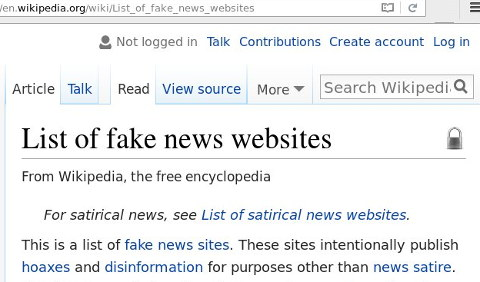 Fake News Sites