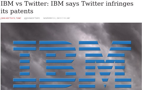 IBM Patents and Twitter
