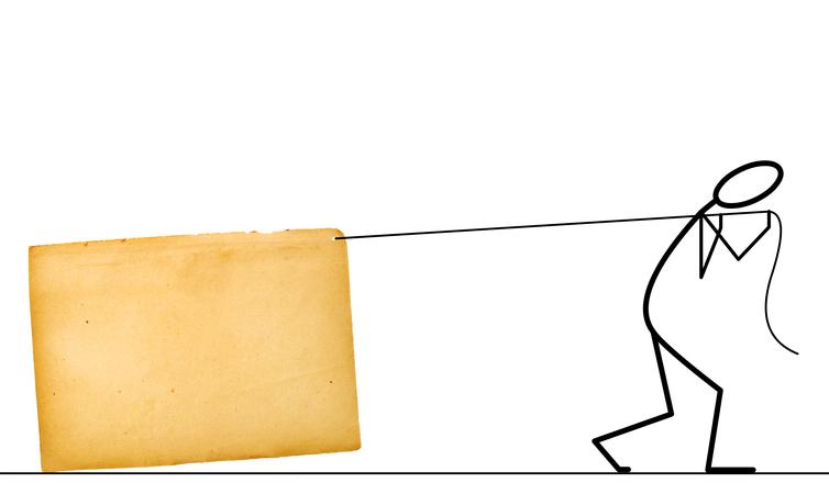 Moving paperwork
