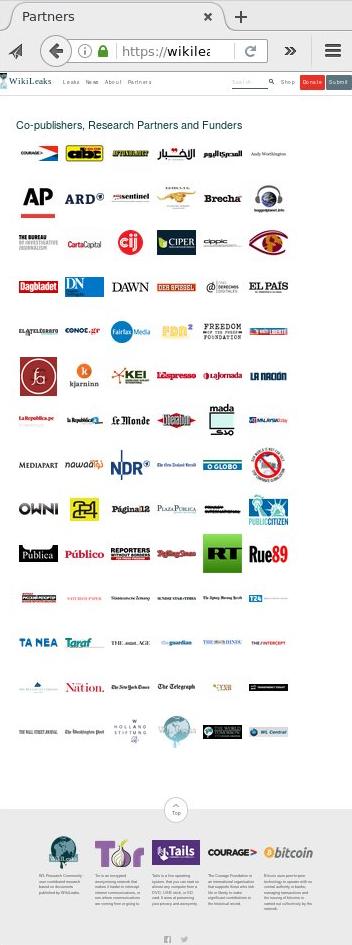 Wikileaks partners