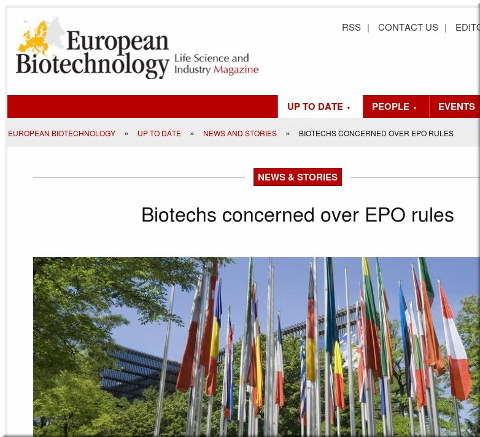 Biotechs concerned over EPO rules