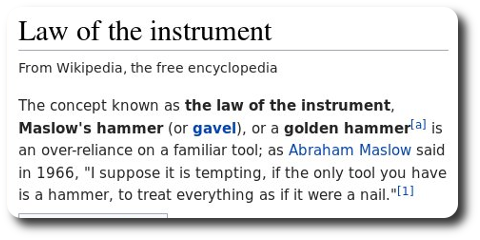 Law of the instrument