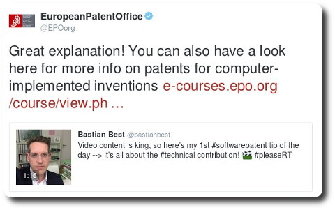 Software patents in EPO