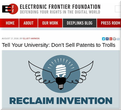 Universities and patent trolls