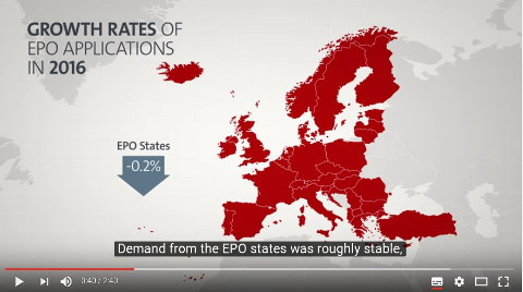 EPO map of EU