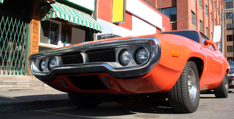 A muscle car