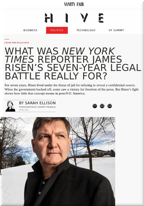What Was New York Times Reporter James Risen's Seven-Year Legal Battle Really for?