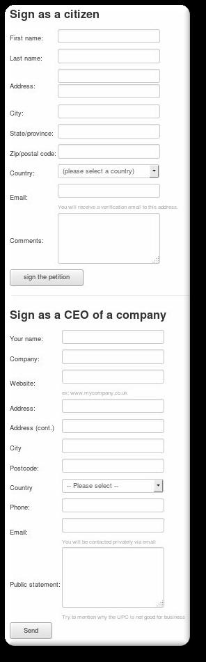 UPC Petition