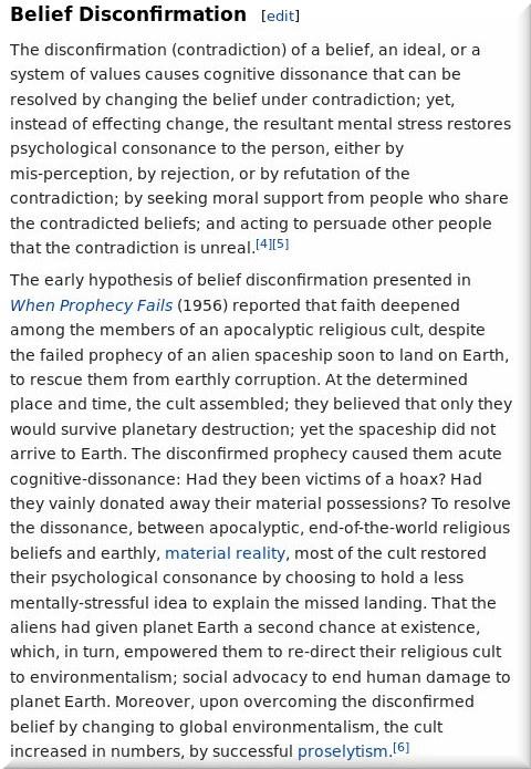 A belief disconfirmation