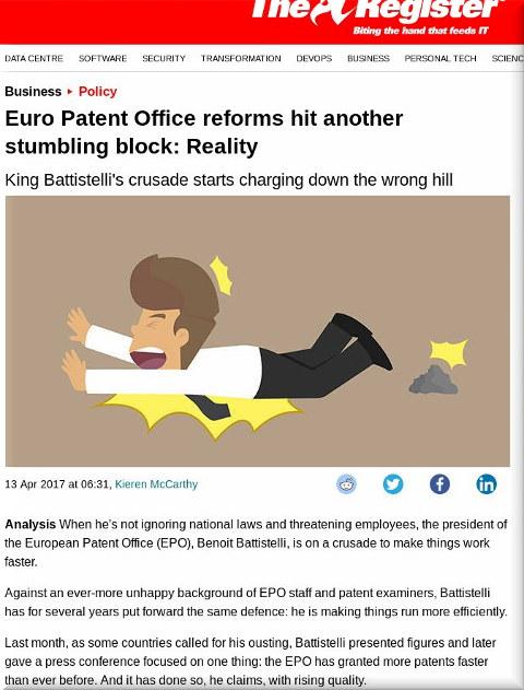 EPO patent quality declining