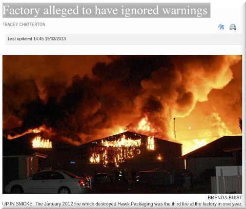 Factory alleged to have ignored warnings