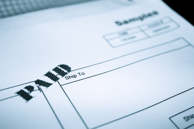 A paid invoice