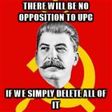 There will be no opposition to UPC if we simply delete all of it