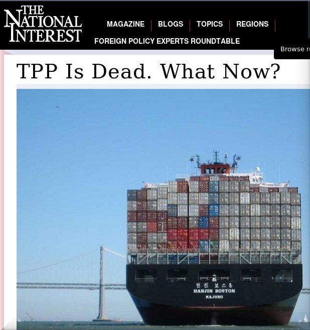 TPP Is Dead. What Now?