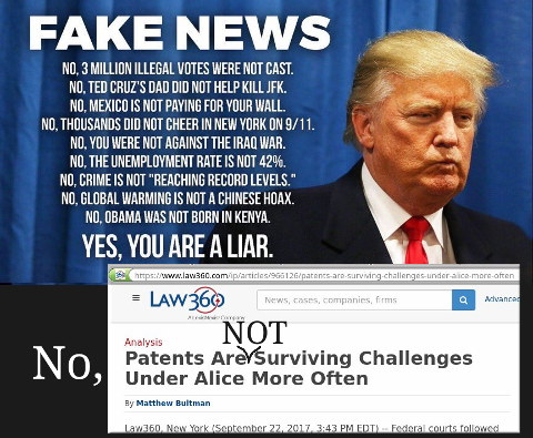 Fake news about Alice