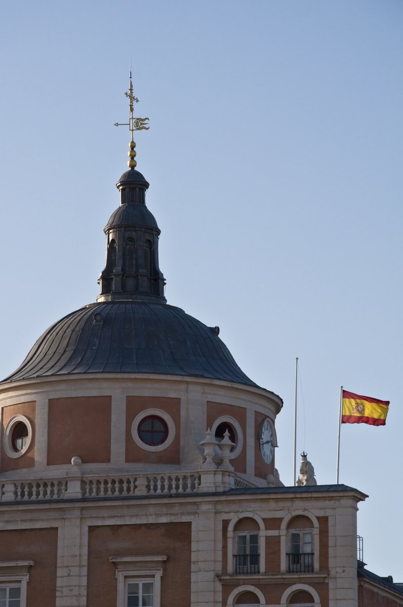 Spain flag on palace
