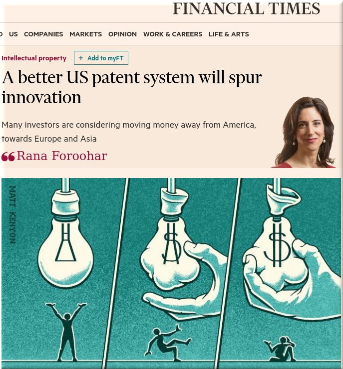 Financial Times on patents