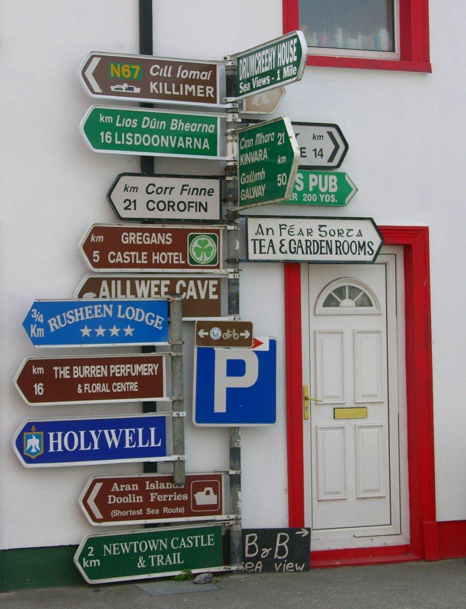 Ireland signpost