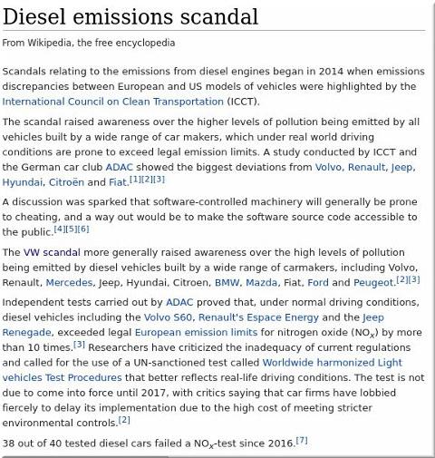 Diesel emissions scandal