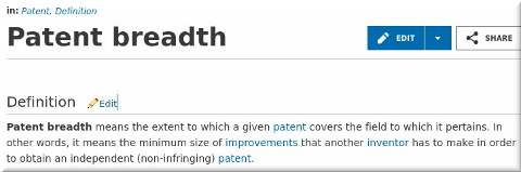 Patent breadth