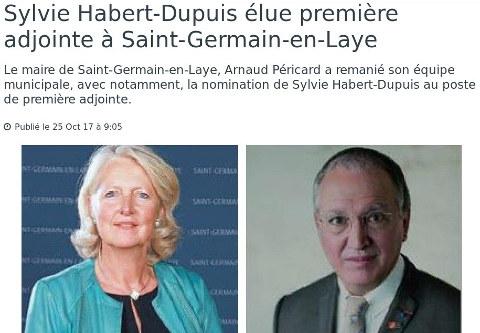 Sylvie Habert-Dupuis élue première adjointe à Saint-Germain-en-Laye