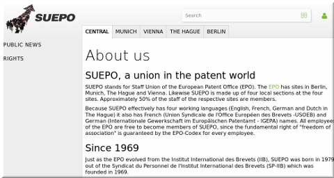 The staff union of the EPO (SUEPO)