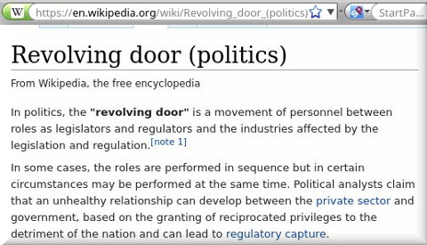 Revolving door (politics)