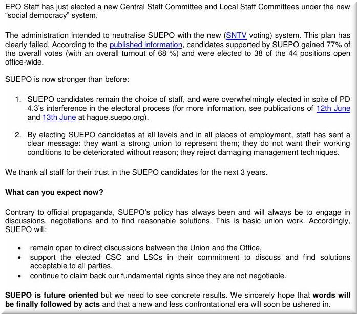 EPO electoral process