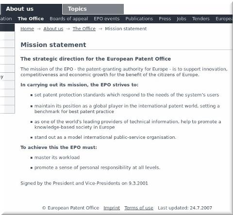 EPO mission