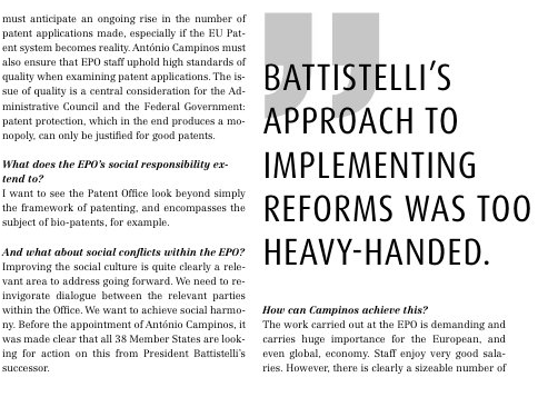 Ernst on Battistelli