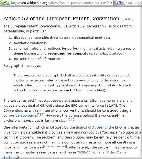 Software patents under the European Patent Convention