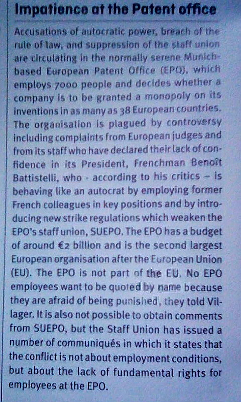 Irish Media Coverage of the EPO